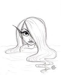Image result for easy mermaid drawing tumblr