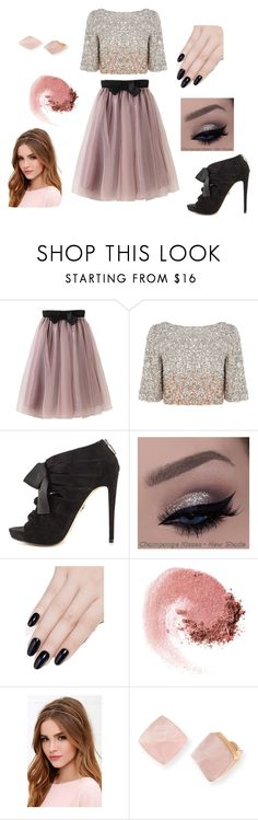 """Blush & Black 4"" by bricie-troglia ❤ liked on Polyvore featuring Coast, Bebe, ncLA, NARS Cosmetics, LULUS and Michael Kors"