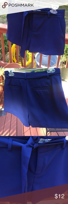 Royal blue high waisted shorts Great material! Size small, from forever 21 Forever 21 Shorts
