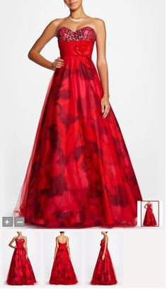 red dress from david's bridal