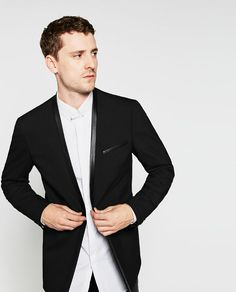 Image 3 of BLAZER WITHOUT LAPEL from Zara