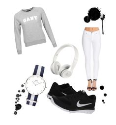 Untitled #2 by sofiaklingsbo on Polyvore featuring polyvore, fashion, style, GANT, Dr. Denim, NIKE and Daniel Wellington