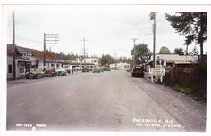 BC – PARKSVILLE, on the Island Highway c.1953 RPPC