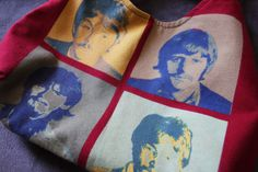 The Beatles - Upcycled Rock Band T-shirt Purse - OOAK  $24
