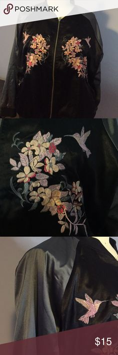 Plus Size Embroidered Bomber Plus Size Embroidered Bomber Jackets & Coats