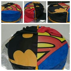 Batman v superman cake