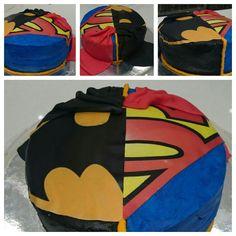 Batman v superman cake