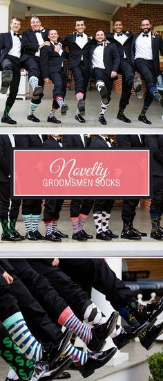 Your wedding is your day. Wardrobes, table decorations, the music – it should all reflect your personality. So why not the socks? Chris from D.C. and his groomsmen decided to put a personal touch from their head to their literal toes with novelty dress socks. Superhero fan? Give him Batman socks. Soccer nut? Soccer-ball patterned socks. One of the groomsmen has size 16 feet? How about 'bigfoot' socks? Have a little fun and add a touch of significance to your outfit – after all, it is your…