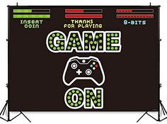 Funnytree Video Game On Party Backdrop Kids Retro Gaming Photography Background Boy Birthday Baby Shower Decorations Cake Table Banner Photo Booth Studio Props Toddler Party Games, Family Party Games, Group Games For Kids, Free Games For Kids, 21st Birthday Games, Baby Birthday, Office Christmas Party Games, New Wedding Games, Bridal Shower Question Game
