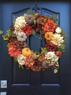 Pumpkin Floral Wreath More