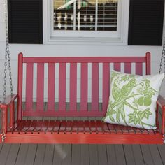 Porch Swing in Red.
