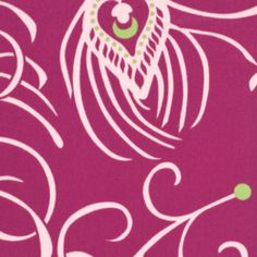 Annette Tatum - Classica Sateen - Plume in Berry $11.95/yd   Manufacturer: Westminster / Free Spirit (SAAT006.Berry)  Designer: Annette Tatum  Collection: Classica Sateen  Print Name: Plume in Berry  Weight / Material / Width: Home Decor, Cotton Sateen, 54 inches   Horizontal repeat: 24 inches