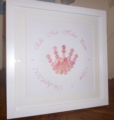 Personalised Baby Hand Print Picture | wowthankyou.co.uk