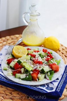 this looks so light and yummy The Comfort of Cooking » Greek Salad with Lemon Vinaigrette