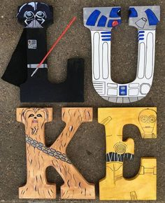 Cool letters painted in a Star Wars theme