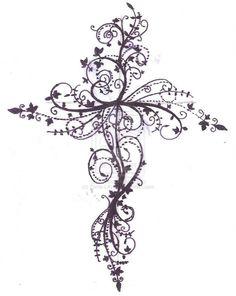 cross tattoo between shoulder blades - Google Search
