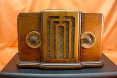 Sears Silvertone Wood Cased Floor Model Tube Radio
