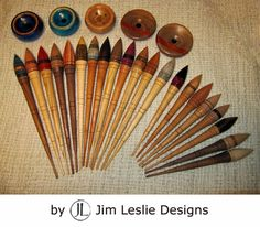 Latest high-performance Russian spindles and bowls by Jim Leslie Designs. Spinning Yarn, Hand Spinning, Drop Spindle, Knitting Accessories, Hand Dyed Yarn, Ancient Art, Wood Turning, Fiber Art, Weaving