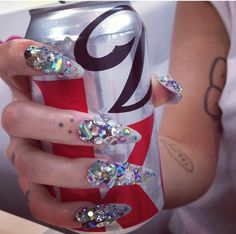 Brooke candy ghetto glam nail art