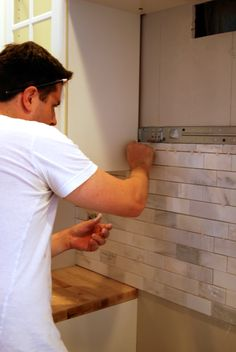 Marble Kitchen Backsplash | WhereWeAreBlog.com