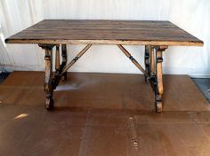 Rustic Dining table in Chestnut. Extinct wood from 1800's log cabin. Wormy character along with hand worked finish. Simply rich & unique.    60'' x 36'' Seats 6.   For sale $ 1700.00