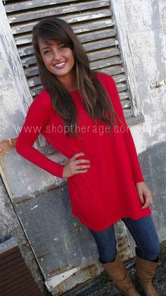 Red Piko Tunic/Dress | The Rage