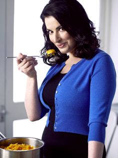 Nigella Lawson - I love her passion for tasty food and the way she enjoys indulging both alone and with friends.