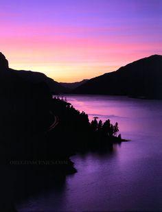 Columbia Gorge @ sunset