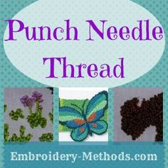List of supplies for how to do punch needle embroidery -- Embroidery-Methods.com