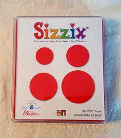 Sizzix 38-0305 Red Circles Set Die Cut Scrapbook Provo Craft Ellison 4 sizes #Sizzix