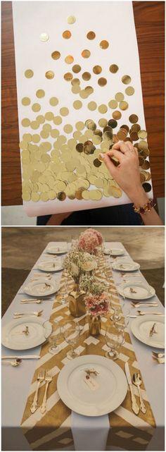 Camino de mesa DIY. Visto en www.ecodecomobiliario.com