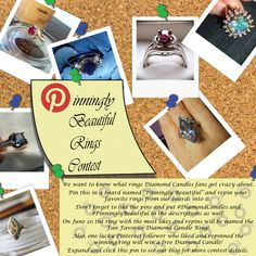 We've only got 12 days left in our Pinningly Beautiful Rings Contest! We've definitely got some front runners for the free Diamond Candles prize for one lucky repinner of the winning ring! Don't forget to keep repinning and liking rings to increase your chances of winning a free Diamond Candle! Check the contest out at http://blog.diamondcandles.com/pinningly-beautiful-pinterest-contest/ if you haven't already entered! #diamondcandles #pinninglybeautiful