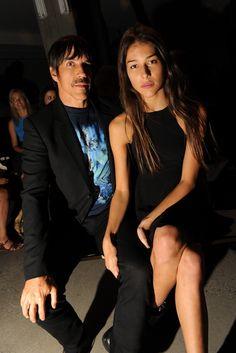Helena Vestergaard and Anthony Kiedis Front Row at Edun [Photo by Steve Eichner]