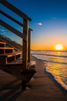 Sunrise at the Outer Banks of North Carolina
