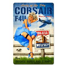 Pin-Up Metal Signs - from Sporty's Wright Bros Collection