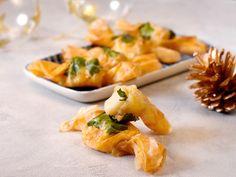 pâte filo, persil, noix de saint-jacques, beurre, piment