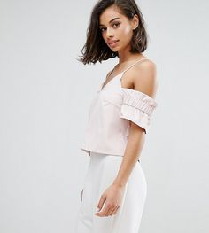 Get this Missguided Petite's top off shoulder now! Click for more details. Worldwide shipping. Missguided Petite Cold Shoulder Ruffle Sleeve Top - Pink: Petite top by Missguided Petite, Lightweight woven fabric, Could-shoulder design, V-neck, Cami straps, Shirred sleeves, V-back, Regular fit - true to size, Machine wash, 100% Polyester, Our model wears a UK 8/EU 36/US 4 and is 163cm/5'4 tall, Exclusive to ASOS. With an eye on the catwalks and hottest gals around, Missguided's in-house team…