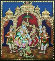 More Tanjore Paintings - Golden Streak Adorn Your Life with ART Shiva Art, Krishna Art, Hindu Art, Mysore Painting, Madhubani Painting, Kalamkari Painting, Shri Ram Wallpaper, Ganesha Painting, Indian Art Paintings