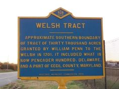 Welsh Tract Marker. Click for full size.