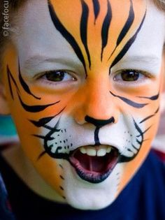 tiger face paint instructions