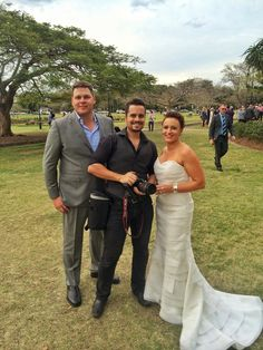 Our couple Caroline & Jason with team member Alberto who bottles memories digitally! Wedding Videos, Wedding Photos, Airlie Beach, Wedding Film, Team Member, Studio S, Sunshine Coast, Bottles, Suit Jacket