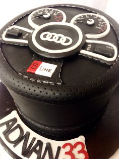 Audi S-Line car themed cake