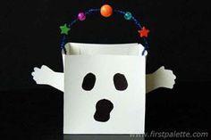 DIY Halloween Crafts : DIY Ghost Trick-or-Treat Bag Craft