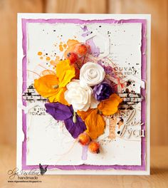 My new card with berries for Sizzix