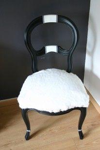 """Chaise """"La moutonnée""""  totalement relookée : Meubles et rangements par meubles-en-vie"""