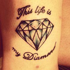 Text round diamond