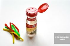 pipe cleaners in a spice jar - I actually made one of these for my older daughter and she LOVED it.
