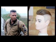 Check Out Our , Brad Pitt Fury Hairstyle, Brad Pitt Hair From Fury, the Brad Pitt Fury Haircut Hair Styles. Hipster Hairstyles, Side Hairstyles, Undercut Hairstyles, Medium Hairstyles, Popular Haircuts, Cool Haircuts, Haircuts For Men, Haircut Men, Fade Haircut