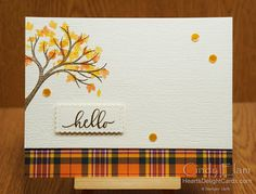 Heart's Delight Cards: Saturday Welcome Autumn Card Kit, I Card, Owl Punch Cards, Paper Smooches, Thanksgiving Cards, Cards For Friends, Heartfelt Creations, Fall Cards, Penny Black