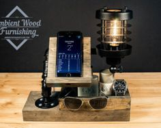 Micro Utility Station Lamp With Electronic Docking by AmbientWood
